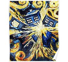 Doctor Who - Tardis Exploding by Van Gogh Poster
