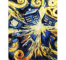 Doctor Who - Tardis Exploding by Van Gogh Photographic Print