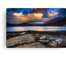 Sunset over Loch Long Canvas Print
