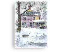 Victorian Snowstorm Canvas Print