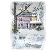 Victorian Snowstorm Poster