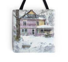 Victorian Snowstorm Tote Bag