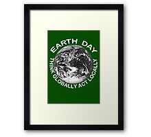 EARTHDAY, APRIL 22 Framed Print