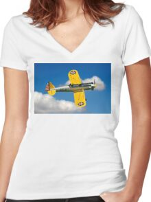 Recruiting Flight at Old Warden Women's Fitted V-Neck T-Shirt