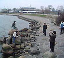 The Little Mermaid at copenhagen harbour by BalPatil