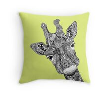 Giraffe Graphic Design Throw Pillow