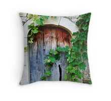 knock knock Throw Pillow