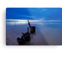 Electric Blue Metal Print