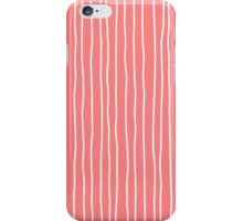 Pink lineart pattern iPhone Case/Skin