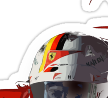 Sebastian Vettel; Ferrari 2015 Sticker
