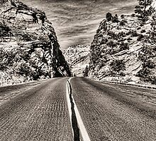 Route 9 through Zion National Park by Roger Passman