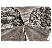Route 9 through Zion National Park Poster
