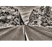 Route 9 through Zion National Park Photographic Print