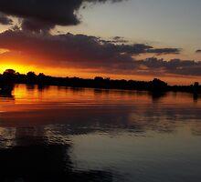 Sunset Over Lake Osakis by mezzilicious
