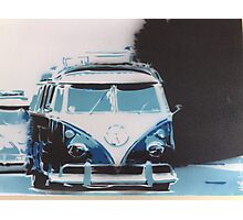split stencil, 65 vw camper rolling Photographic Print