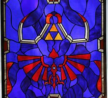 The Legend of Zelda -  Blue Stained Glass by ghoststorm