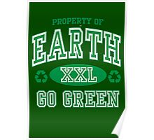 EARTH DAY, GO GREEN Poster