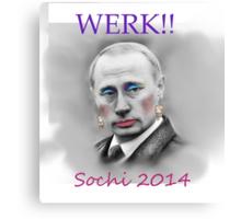WERK!! Sochi 2014 Canvas Print