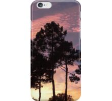 Sunset - Clouds, wind and trees iPhone Case/Skin