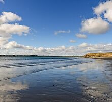 Reflected Sky, Bannow Beach, County Wexford, Ireland by Andrew Jones