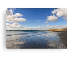 Reflected Sky, Bannow Beach, County Wexford, Ireland Canvas Print