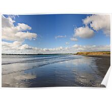 Reflected Sky, Bannow Beach, County Wexford, Ireland Poster