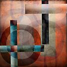 Circles and Lines Abstract by Edward Fielding