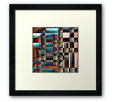 Crossover abstract painting Framed Print