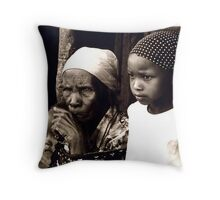 Etched Lines of Sorrow Throw Pillow