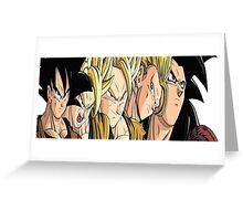 Goku Evolution Greeting Card