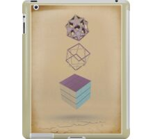 Geometric Shapes on Old Paper iPad Case/Skin