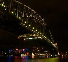 Sydney Harbour Bridge covering North Sydney by Richie Wessen