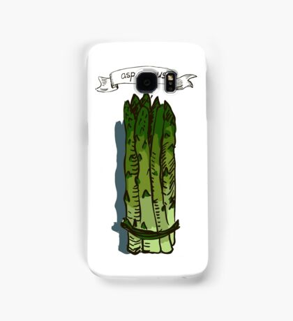 watercolor hand drawn vintage illustration of asparagus Samsung Galaxy Case/Skin