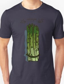 watercolor hand drawn vintage illustration of asparagus Unisex T-Shirt