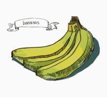 watercolor hand drawn vintage illustration of banana Kids Tee