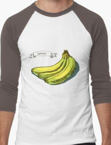 watercolor hand drawn vintage illustration of banana Men's Baseball ¾ T-Shirt