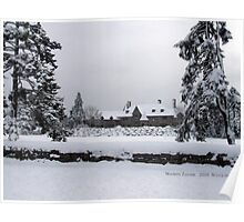 Castle Covered in Snow, Watch Hill, Rhode Island Poster