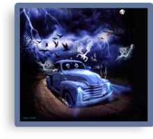 THE FEARLESS GHOST TRUCK Canvas Print