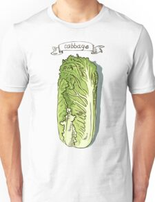 watercolor hand drawn vintage illustration of cabbage Unisex T-Shirt