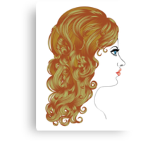Curly Hairstyle Canvas Print