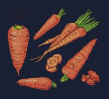 Set simple sketch icons carrots isolated on white background. Vegetables. Food. Hand drawn  Kids Clothes