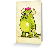 Monster Nerd Greeting Card