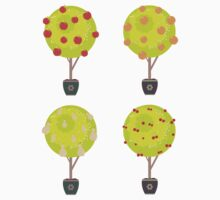 Different Fruits in a Trees Kids Clothes
