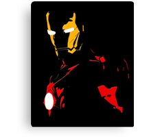 The Avengers - Iron Man Minimal Figure Black Background Canvas Print
