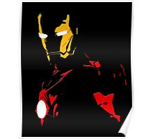 The Avengers - Iron Man Minimal Figure Black Background Poster