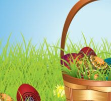 Easter Basket on Lawn Sticker
