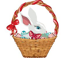 Easter Bunny in Basket by AnnArtshock