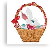 Easter Bunny in Basket Canvas Print