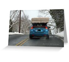 Driving to Watch Hill in the Snow Greeting Card