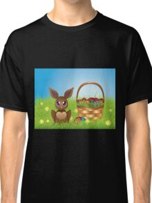 Easter Bunny with Eggs in the Basket Classic T-Shirt